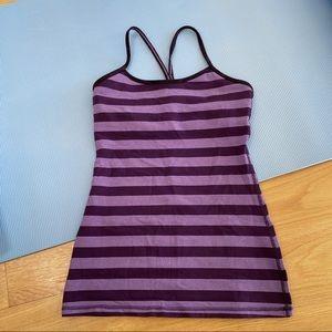 Purple Striped Flow Y tank top